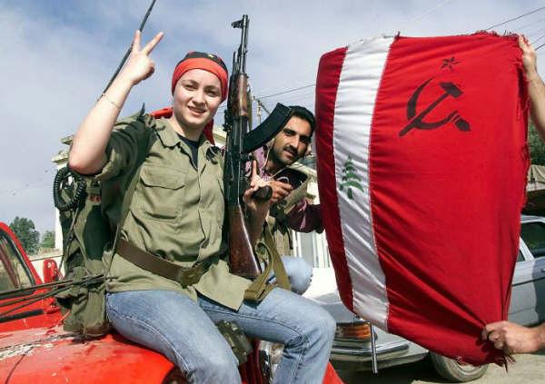 Combattante et combattant du Parti Communiste Libanais.